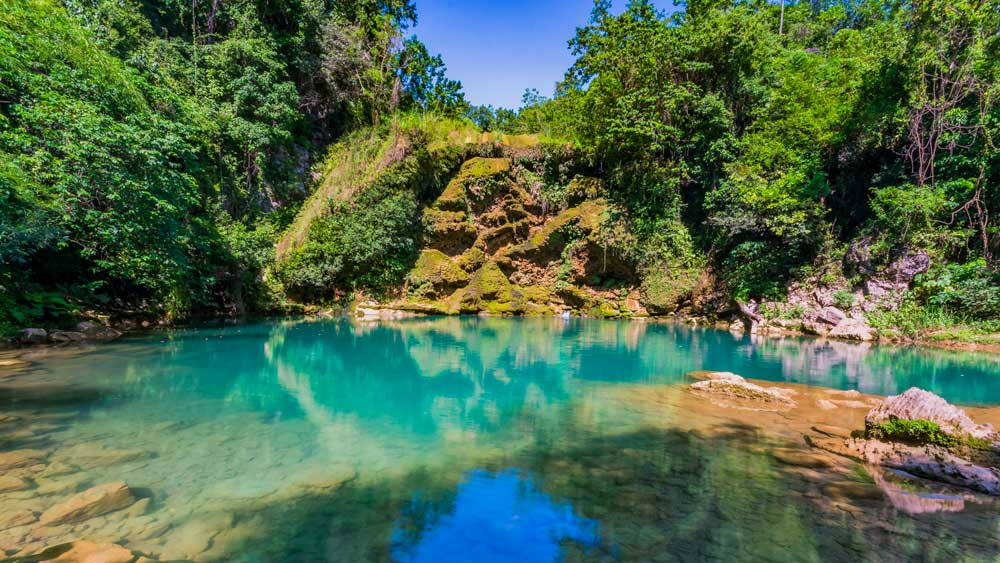 Turquoise pool at Saut Mathurine, Haiti