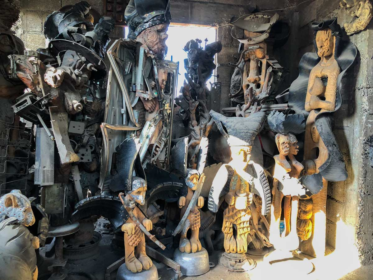 Sculptures on display at Atis Rezistans, Port-au-Prince, Haiti