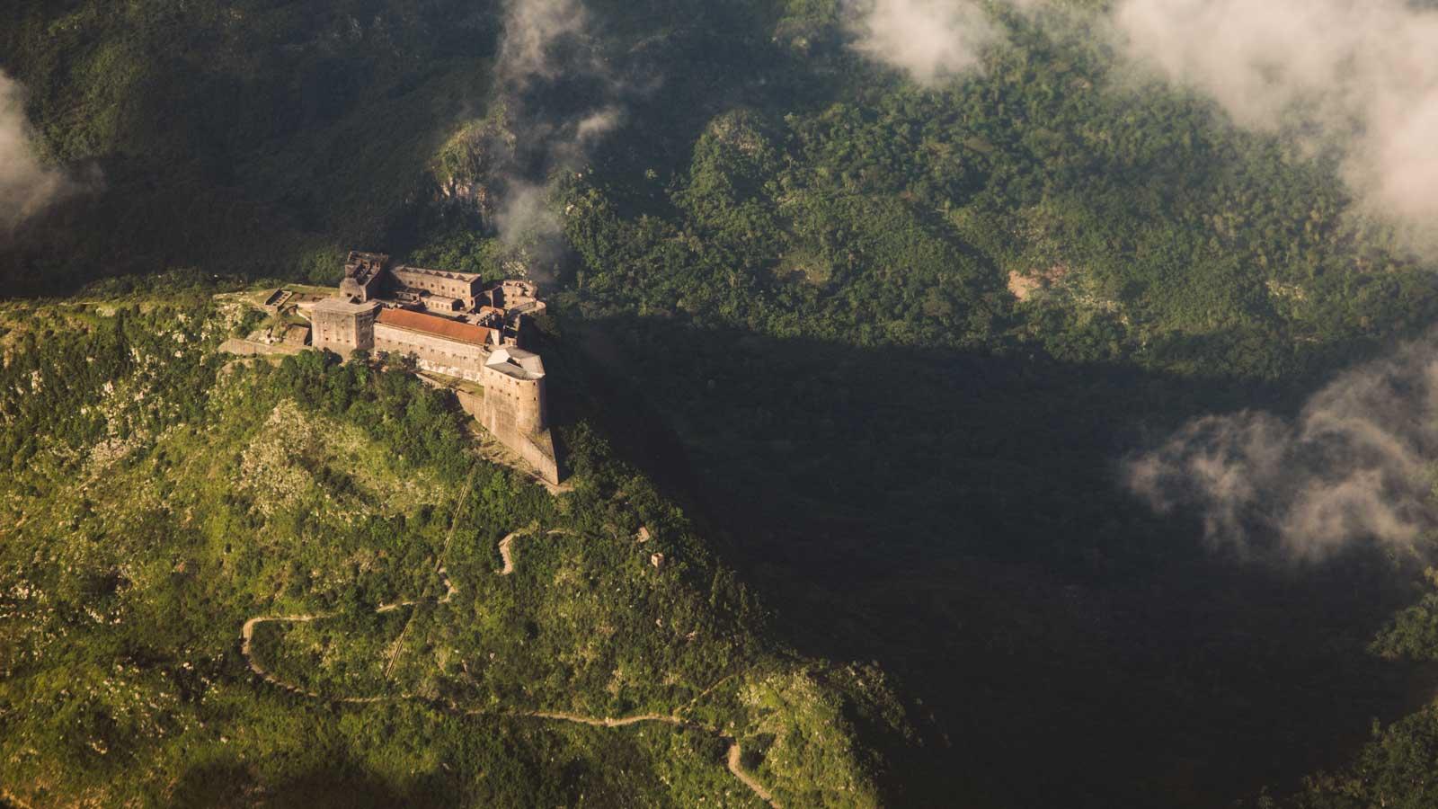 Aerial view of Citadelle Laferrière, Milot, Haiti