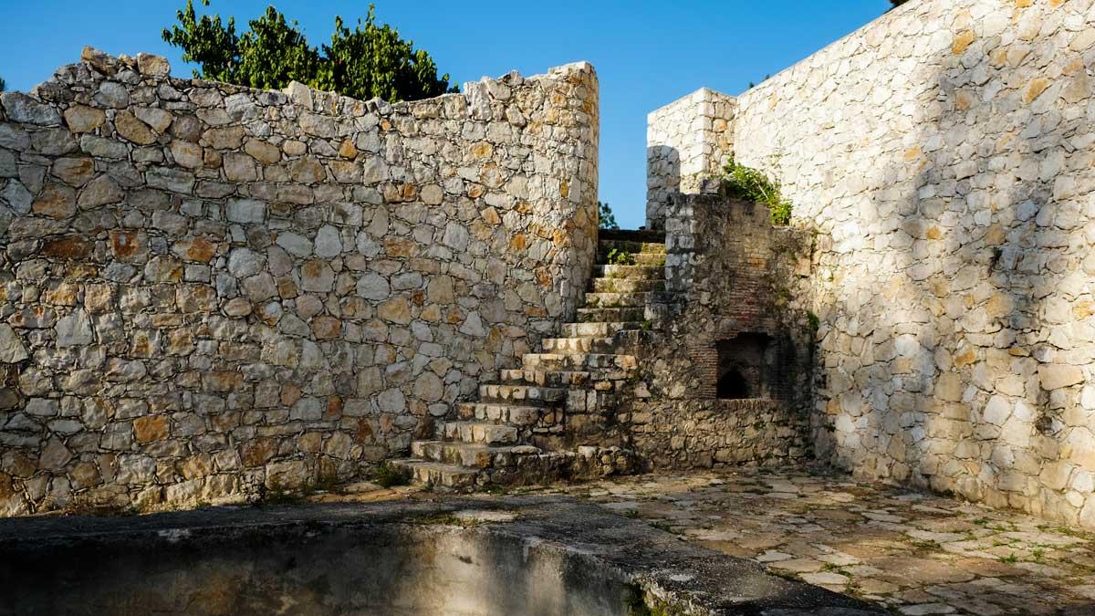 Interior of Fort Jacques, Kenscoff, Haiti