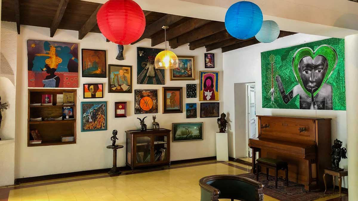 Art on display at Galerie Monnin, Laboule, Haiti
