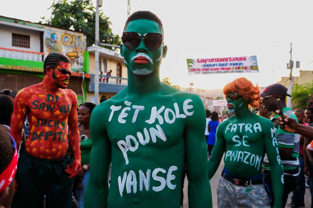 Body paint at Jacmel Carnaval, Haiti