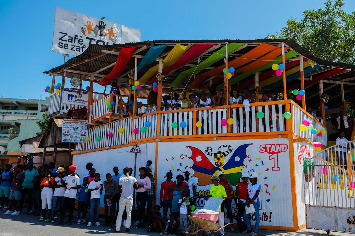 Carnival stand at Jacmel Carnaval, Haiti