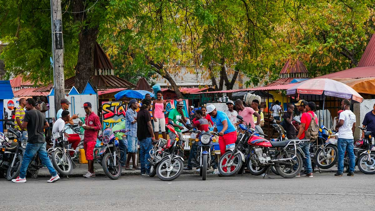 Motos on Champ de Mars, Port-au-Prince