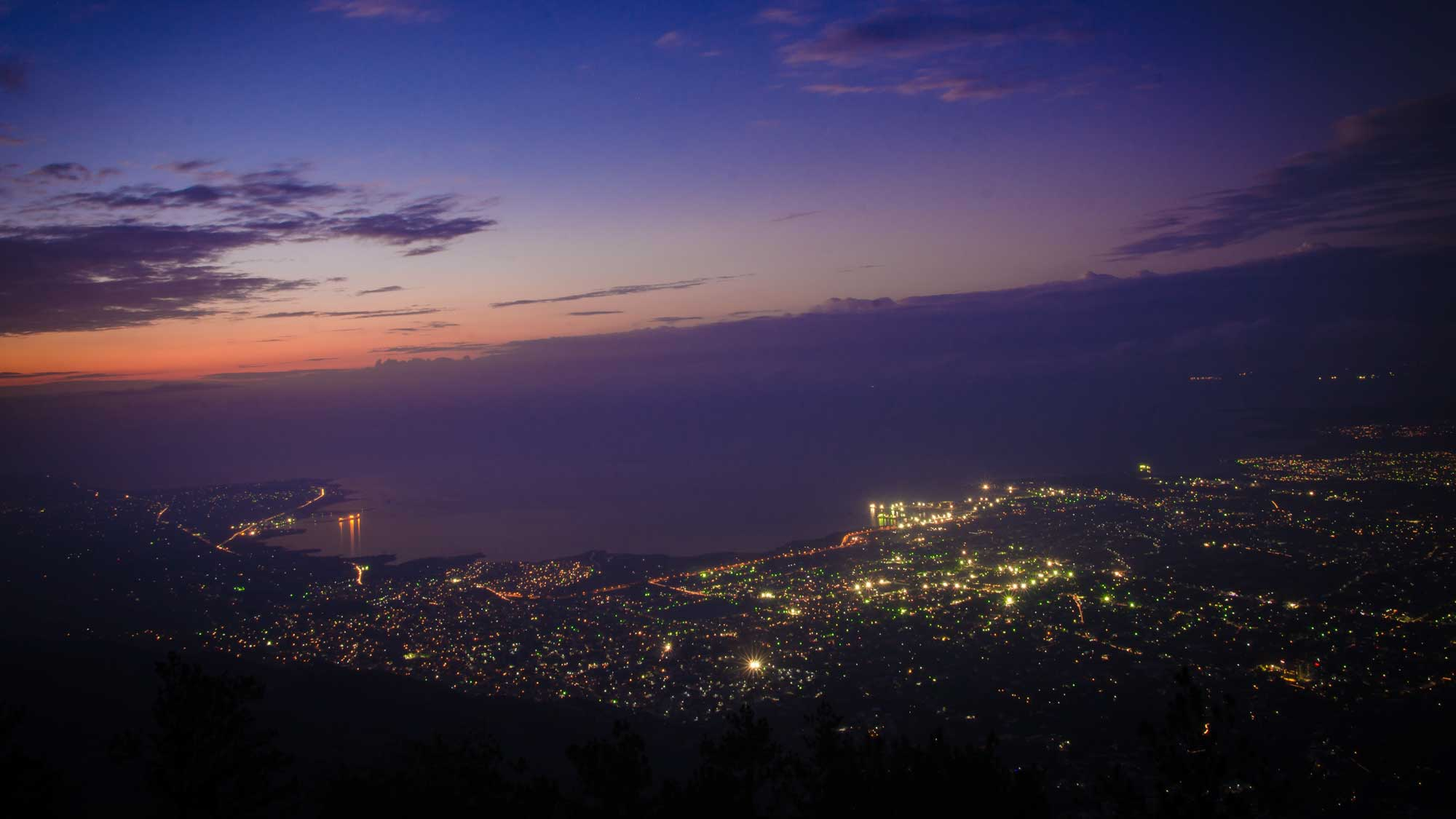 Nighttime view of Port-au-Prince from Boutilliers