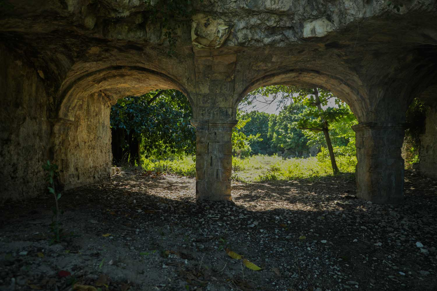 Stone archways at Fort des Anglais, Haiti