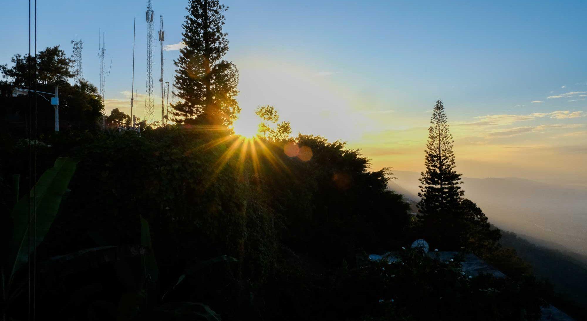 Sunset over Boutilliers, Haiti