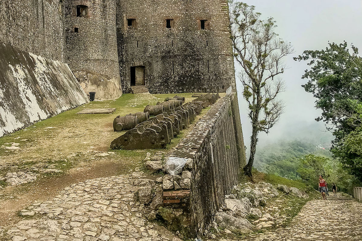 People hiking up the path to Citadelle Laferriere, Haiti