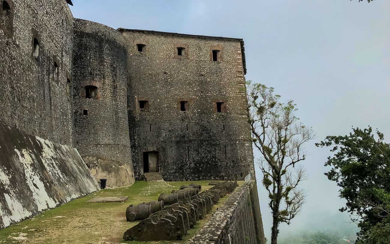 Old cannons at Citadelle Laferriere, Haiti