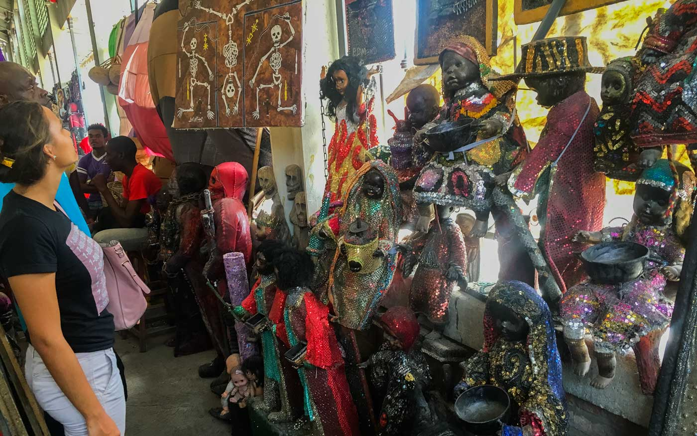 Vodou section at Marche en Fer - Port-au-Prince's Iron Market